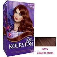 """Фарба для волосся """"Koleston"""" тон 6/55 червоне дерево/18"""