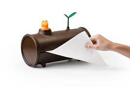 Диспенсер для бумажных полотенец Qualy Log & Roll