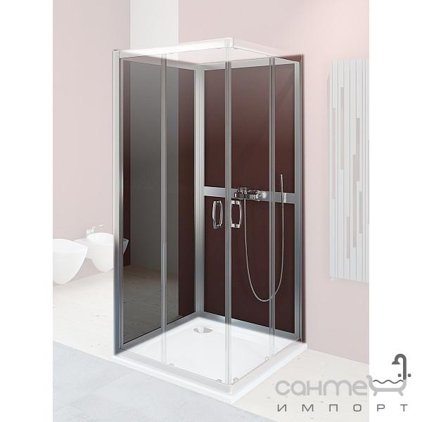 Душевые кабины, двери и шторки для ванн Radaway Задние стенки для душевой кабины Radaway Premium Plus 2S 80 33443-01-05N (хром/графит)