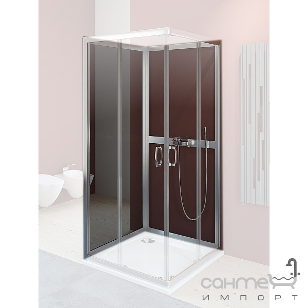 Душевые кабины, двери и шторки для ванн Radaway Задние стенки для душевой кабины Radaway Premium Plus 2S 80 33443-01-06N (хром/фабрик)