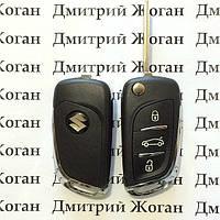 Выкидной ключ для Suzuki Swift, SX4, Grand Vitara, Liana (Сузуки) 3 кнопки, чип и частота на выбор