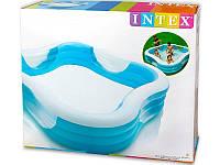 Семейный квадратный надувной бассейн Intex 57495 цвет уточняйте