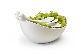 Салатница Sparrow Salad Bowl with Servers Qualy