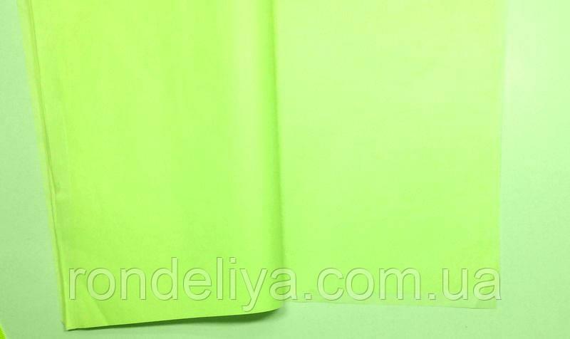 Бумага тишью (папиросная) 50х50см  50 листов салатная