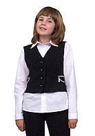 Жилет для девочки школьный  М-1007  рост 140 146 152 158 164 и 170 черный, фото 1