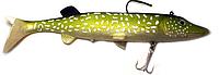 Виброхвост-щука Behr Trendex Pike-Natural XXL с джиг головкой 22см 52гр 1шт