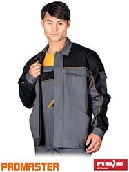 Куртка рабочая мужская серая REIS Польша (рабочая одежда униформа) PRO-J SBP