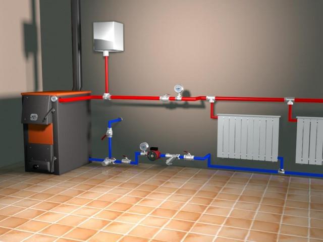 Пример установки системы отопления без накопительного (аккумулирующего) бака