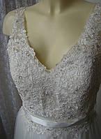Платье белое свадебное шикарное роскошное в пол Luxuar Limited р.46-48 6531 2