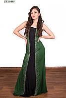 Зеленое выпускное платье