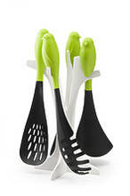 Набор кухонных лопаток Sparrow Server Set Qualy black-green