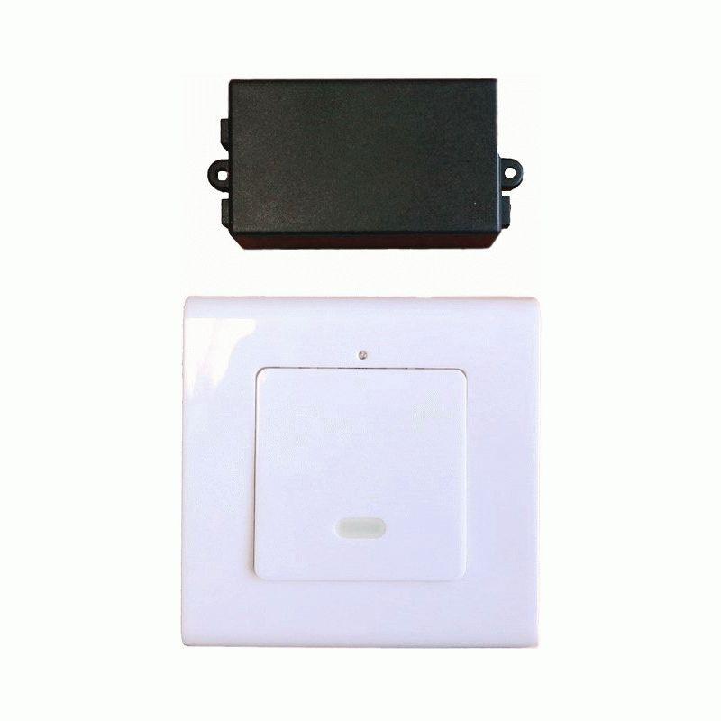 7b3896c2c2e9 Беспроводной настенный радио-выключатель света 1 канал c клавишей 220v