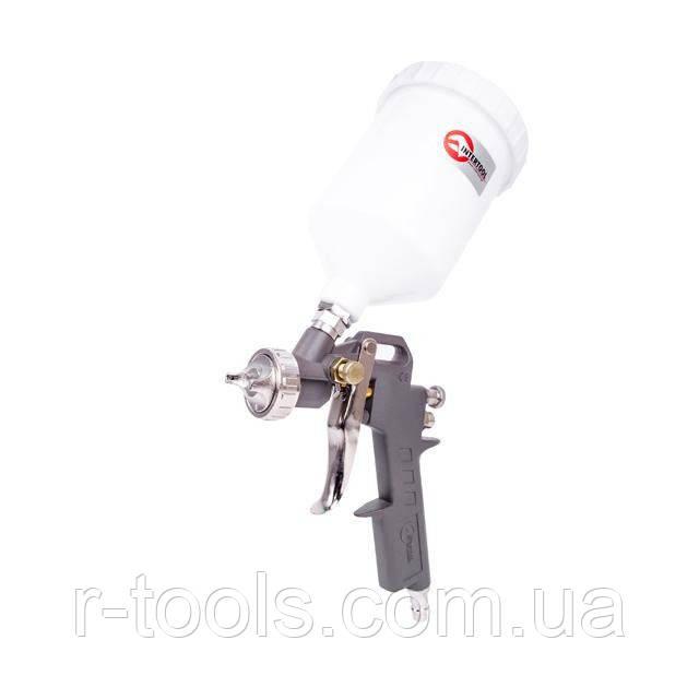Пистолет покрасочный пневматический, форсунка 1,5 мм, В/Б пластик, 600 мл, 3,5-5 bar HP Intertool PT-0204