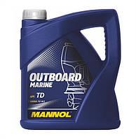 Моторное масло для для лодочных моторов 2-тактное Mannol Outboard Marine API TD (4L)
