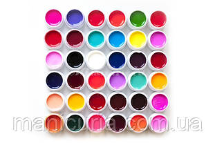 GD COCO Набор цветных гелей, 36 шт. 5 мл.