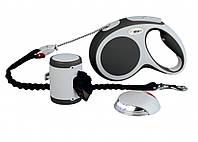 Поводок-рулетка для собак Trixie Flexi Vario M - 5 м, до 25 кг, трос - набор