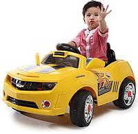 Детский Электромобиль Каталка BT-BOC-0045 YELLOW легковая на радиоуправлении