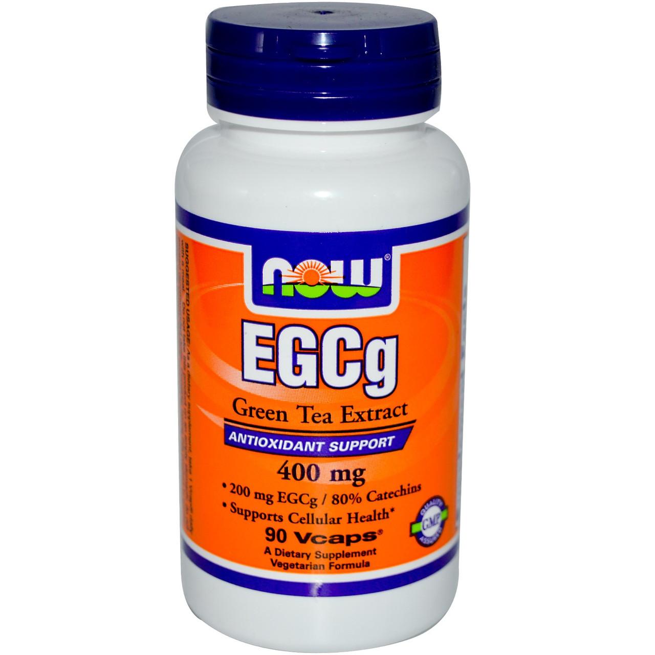 EGCG (Галлат эпигаллокатехина) экстракт зеленого чая, Now Foods, 90 капсул. Сделано в США.