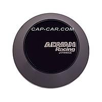 Ковпачки заглушки для литих дисків Advan чорний c чорним логотипом 68мм