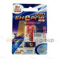 Акумулятор побутовий Енергія 9V 220 mAh U1, Ni-МН крона