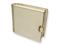 Деревянная заготовка - Шкатулка-книжка квадратная, размеры 140x117x45 мм, 1 шт