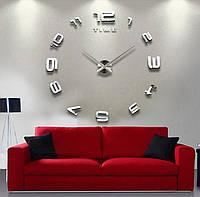 Настенные часы объемные 1.2м с цифрами diy сделай сам зеркальные