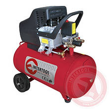 Компресор 50 л, 2 HP, 1,5 кВт, 220 В, 8 атм, 206 л/хв. INTERTOOL PT-0003