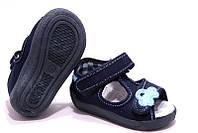 Детские сандали для мальчика синий цвет размер 19-27 Renbut  13-140 Ортопедическая вкладка.