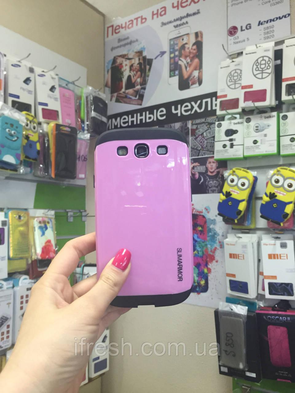 Чехол Slim Armor для Samsung S3 i9300, розовый