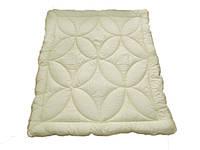 Одеяло двуспальное облегченное, силиконовое Беж, бязь (175х215 см.)