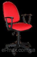 [ Кресло Jupiter GTP sonata C-16 Red + Подарок ] Офисное кресло для персонала ткань Cagliari