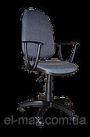 [ Кресло Jupiter GTP sonata C-38 Grey + Подарок ] Офисное кресло для персонала c пластиковыми подлокотниками