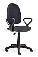 [ Кресло Prestige GTP NEW C-11 Black + Подарок ] Офисное кресло для персонала c подлокотниками