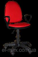[ Кресло Prestige GTP NEW C-16 Red + Подарок ] Офисное кресло для персонала c подлокотниками красный
