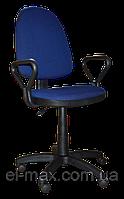 [ Кресло Prestige GTP NEW C-27 Blue + Подарок ] Офисное кресло для персонала c подлокотниками ткань