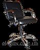 [ Кресло Samba GTP chrome wood 1.031 CZ-3 Black + Подарок ] Офисное кресло для персонала винилискожа