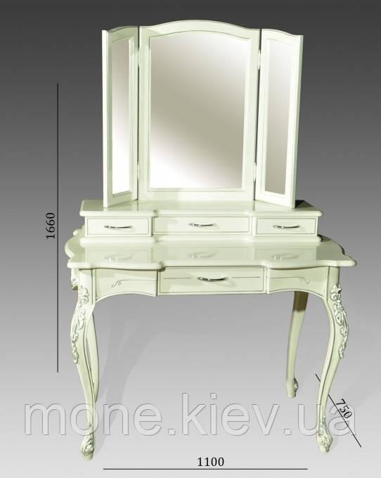 Туалетный столик с зеркалом в классическом стиле №9