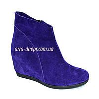 """Ботинки демисезонные замшевые фиолетовый цвет. ТМ """"Maestro"""", фото 1"""