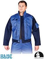 Куртка рабочая мужская устойчива к смазкам и маслам синяя Lebber&Hollman Польша (одежда рабочая) LH-BULTER NG