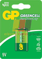 Батарейка GP 1604Ж-S1 Greencell 6F22, крона 9V