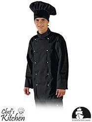Китель поварской черный из линии Chef's Kitchen Lebber&Hollman (одежда для ресторанного персонала) LH-CHEFER B