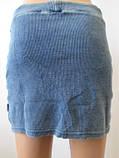 Джинсовая молодежная юбка , фото 4