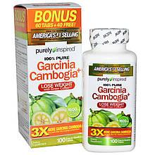 Гарциния камбоджийская+, Purely Inspired, 1600 мг, 100 таблеток