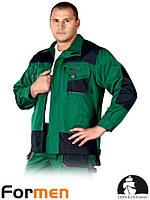 Куртка FORMEN рабочая комфортная зеленая Lebber&Hollman Польша (мужская рабочая униформа) LH-FMN-J ZBS