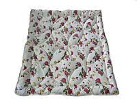 Одеяло двуспальное, силиконовое Розы-бабочки, бязь (175х215 см.)
