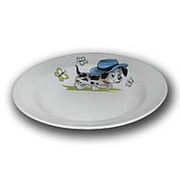 Тарелка фарфоровая 200мм. глубокая Озорные щенки