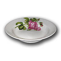 Тарелка фарфоровая 200мм. глубокая Роза Кавказа