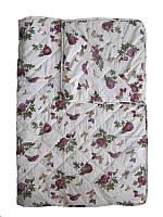 Одеяло полуторное, силиконовое, летнее Розы-бабочки, бязь (155х215 см.)