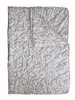 Одеяло полуторное, силиконовое, летнее Орнамент, бязь (140х205 см.)
