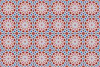 Марокканская плитка. Коллекция с классическим узором, 20х20 см.